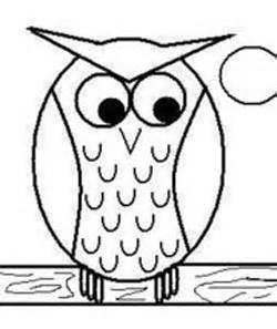 250x297 Simple Drawing Silly Owl