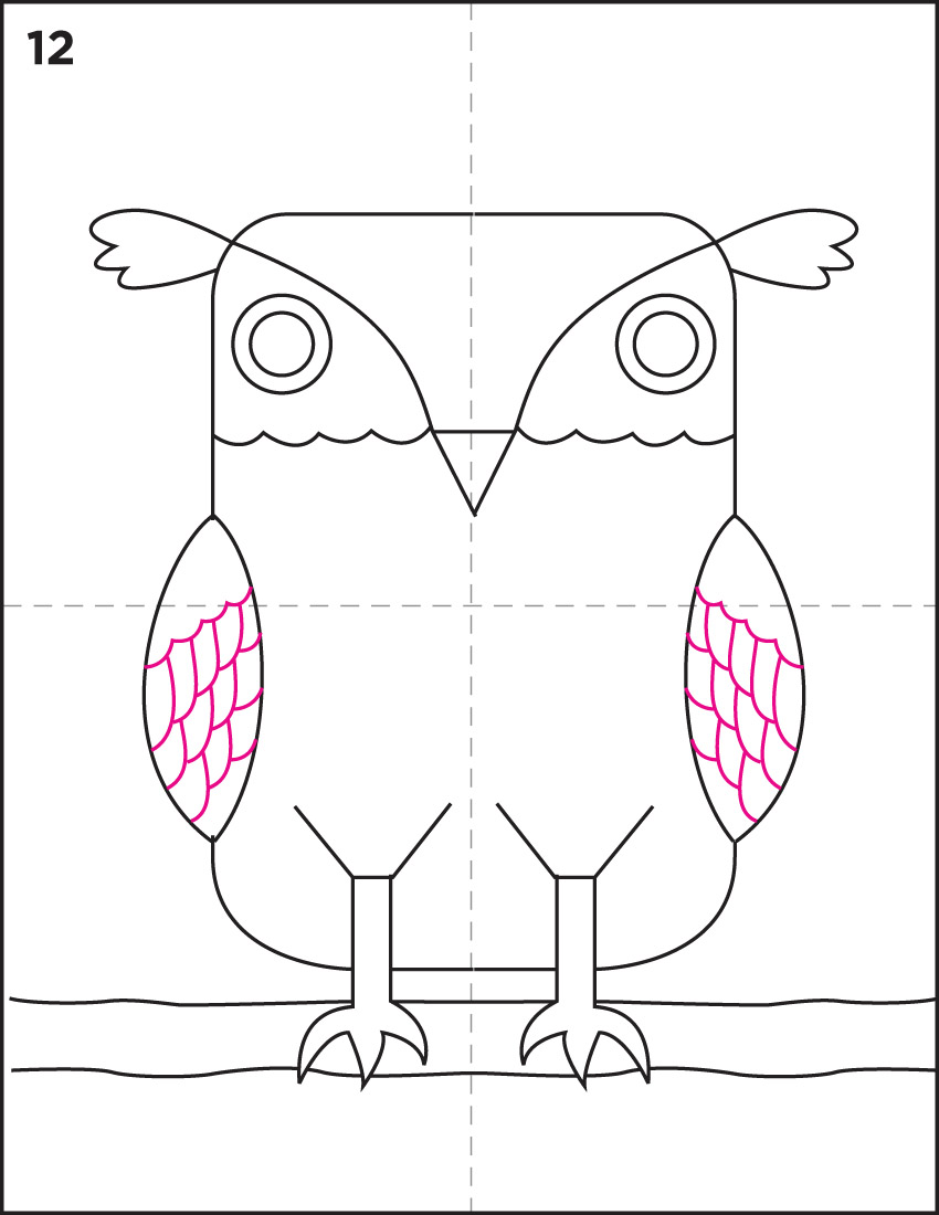 850x1100 Draw An Owl Owl Art, Art Auction And Watercolor Paper