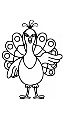 Easy Peacock Drawing at GetDrawings com | Free for personal use Easy