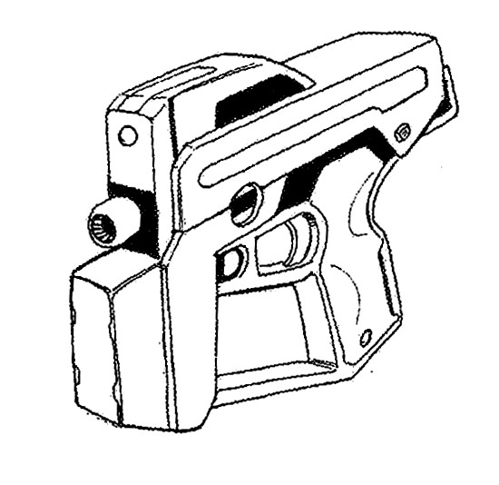 550x534 Lithgow Arms M 30 Hound 9mm Caseless Pistolsubmachine Gun Mecha