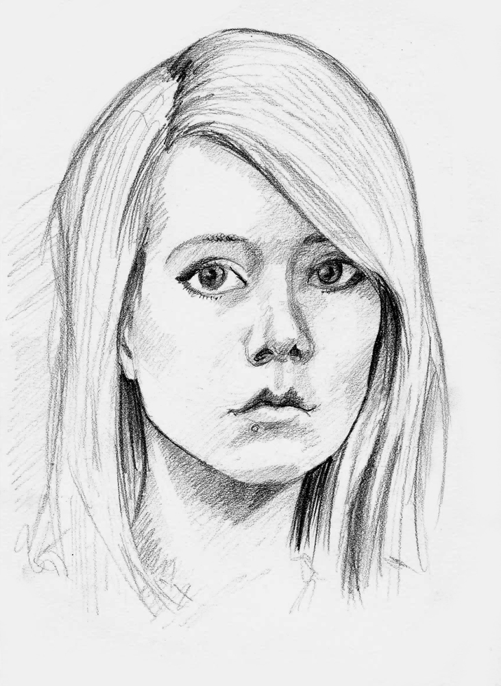 731x1000 pictures simple portrait drawing