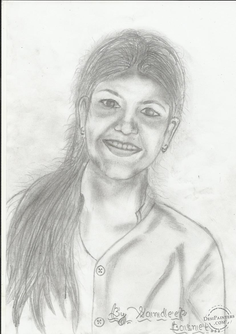 827x1168 simple indian girl pencil sketch