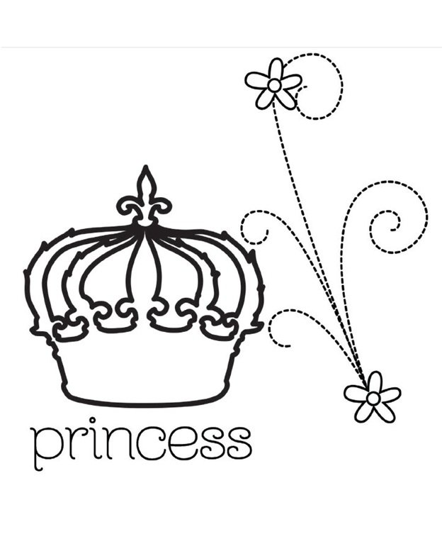 Easy Princess Crown Drawing