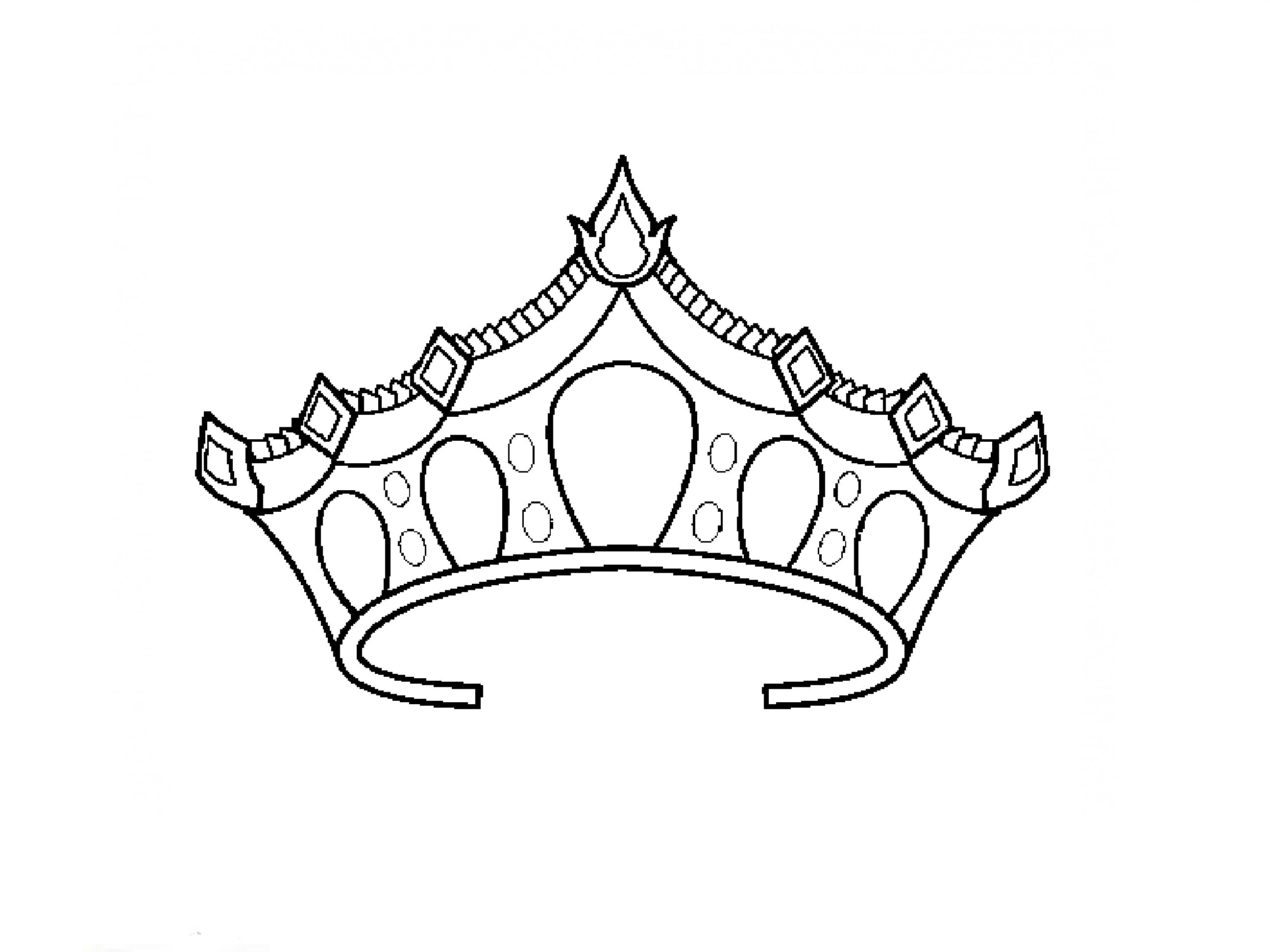 Easy Princess Crown Drawing at GetDrawings.com | Free for ...