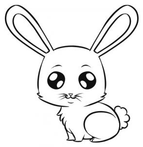 294x302 How To Draw An Easy Bunny I'D Probably Change The Eyes Though