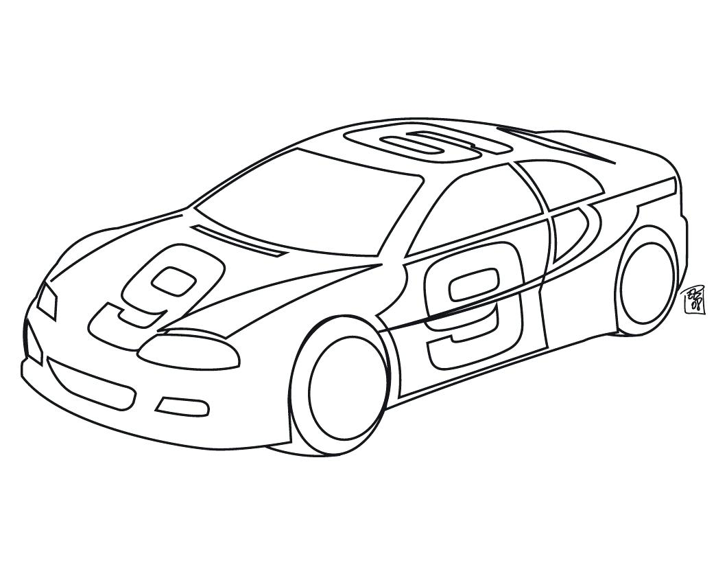 Easy Race Car Drawing at GetDrawings | Free download