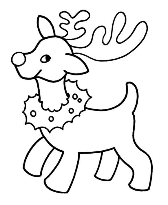 Easy Reindeer Drawing