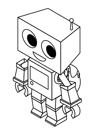 step drawing and coloring for kids 304x447 how to create a cute robot game sprite using ssr in adobe illustrator