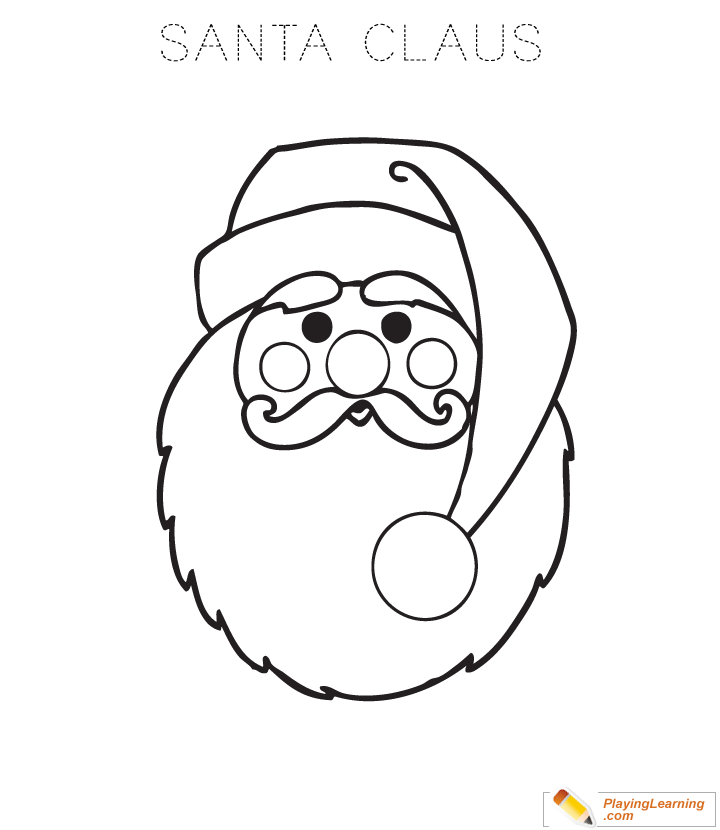 720x830 Easy Santa Claus Coloring Page For Kids