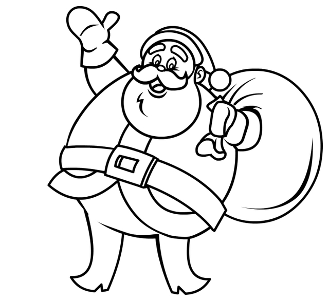 640x586 How Do Yo Draw A Santa Claus Cartoon Drawings