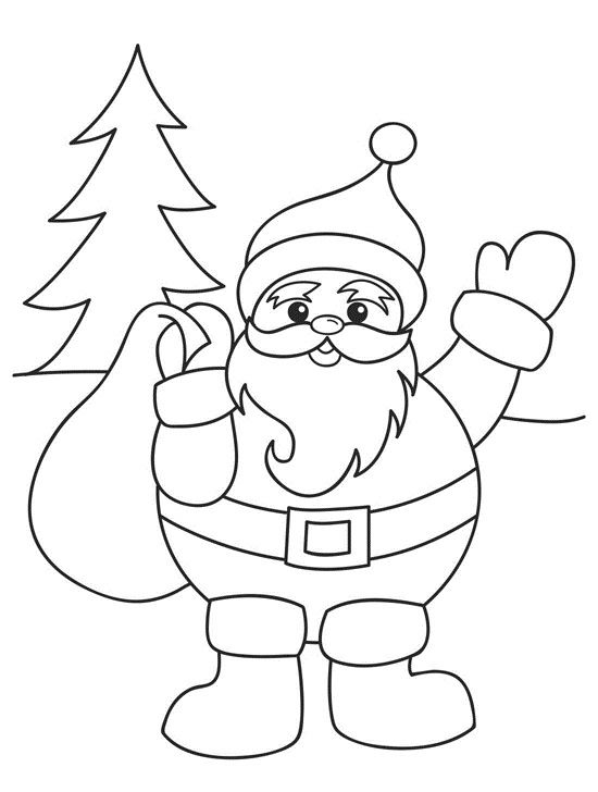 550x728 Santa Claus Coloring Pages For Preschoolers