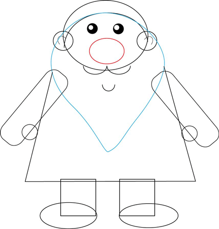 Easy Santa Drawing