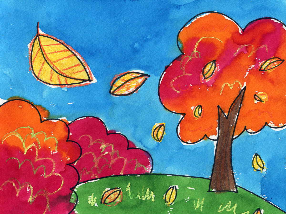 Easy Painting For Toddlers at PaintingValley.com | Explore ... |Easy Landscape Paintings For Kids