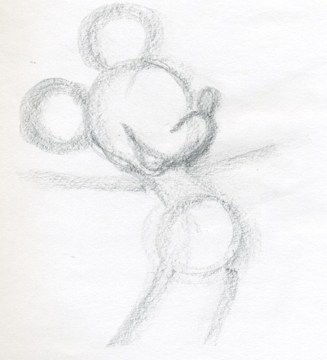 661x728 draw mickey mouse