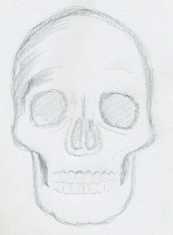563x764 draw skulls can be this easy