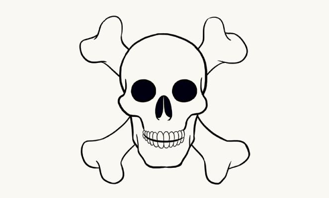 Easy Skull Drawing