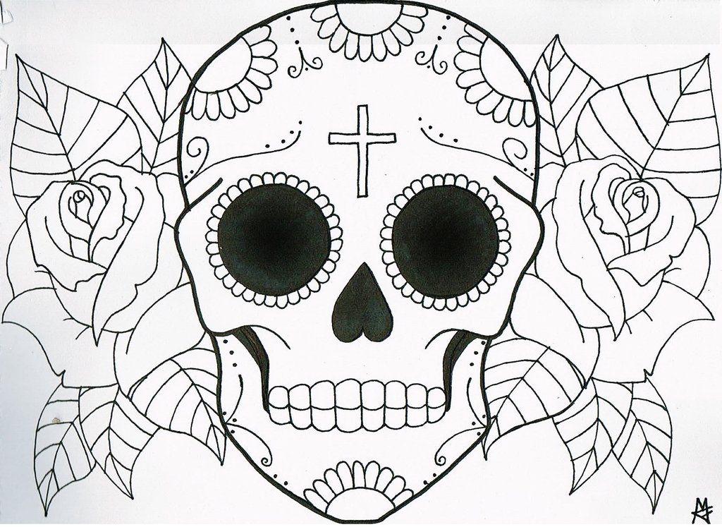 1024x747 Sugar Skull Tattoo Design By =maddyfield