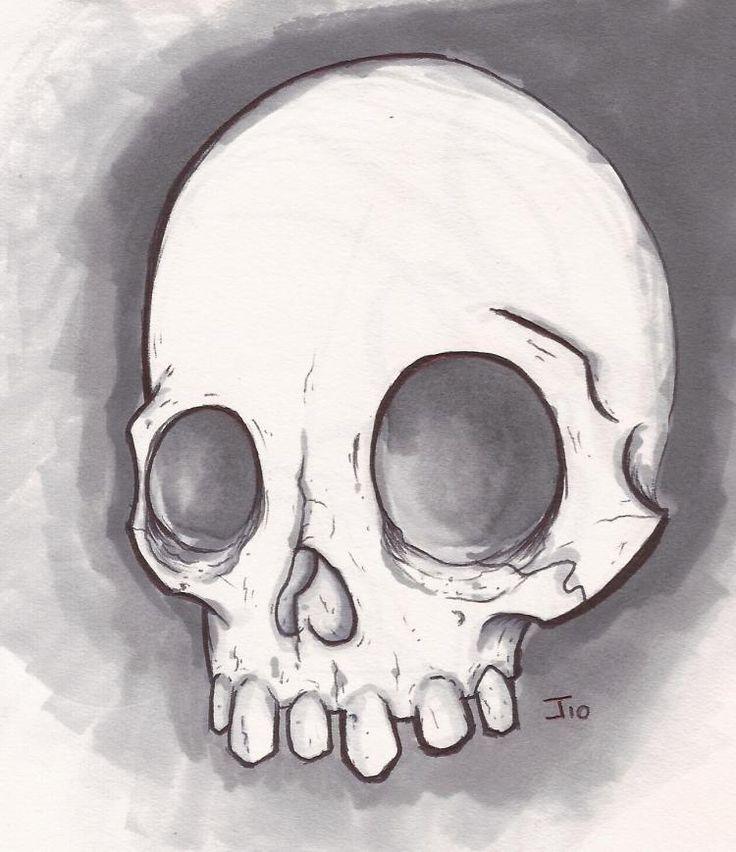 736x852 Simple Skull Drawing