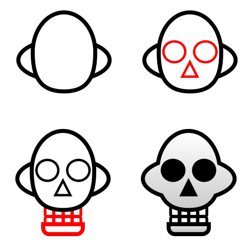 500x500 To Draw Skulls