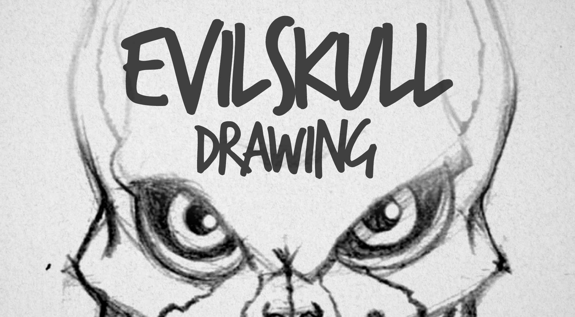 1873x1035 Evil Skull Drawing