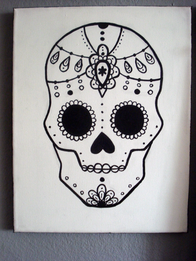 768x1024 Graphic Sugar Skull Painting 24 Steps (With Pictures)