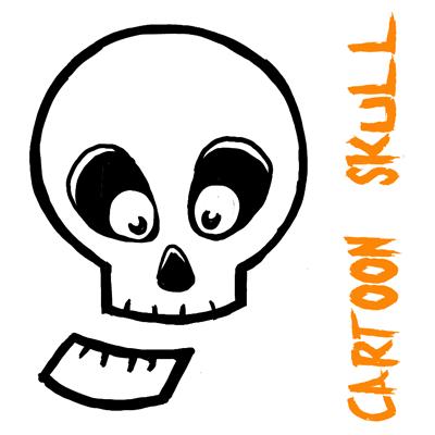 400x400 How To Draw Silly Cartoon Skulls Halloween Easy Tutorial