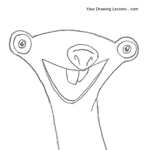 468x480 How To Draw Sid From Ice Age Your Drawing Lessons