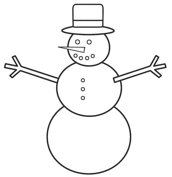 Easy Snowman Drawing At Getdrawings Com Free For Personal Use Easy