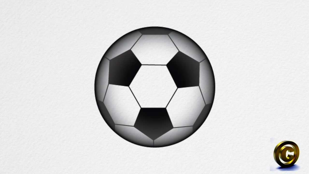 1280x720 How To Draw A Soccer Ball Step By Step