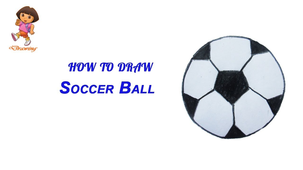 1280x720 How To Draw Soccer Ball (Football) Step By Step (Very Easy) Easy