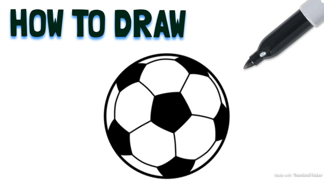 1280x720 How To Draw A Soccer Ball Drawing Tutorial