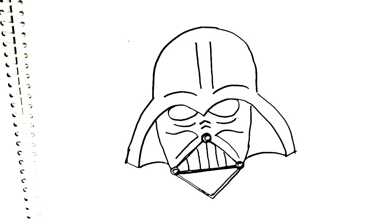 1280x720 How To Draw Darth Vader Mask,star Wars In Easy Steps For Children