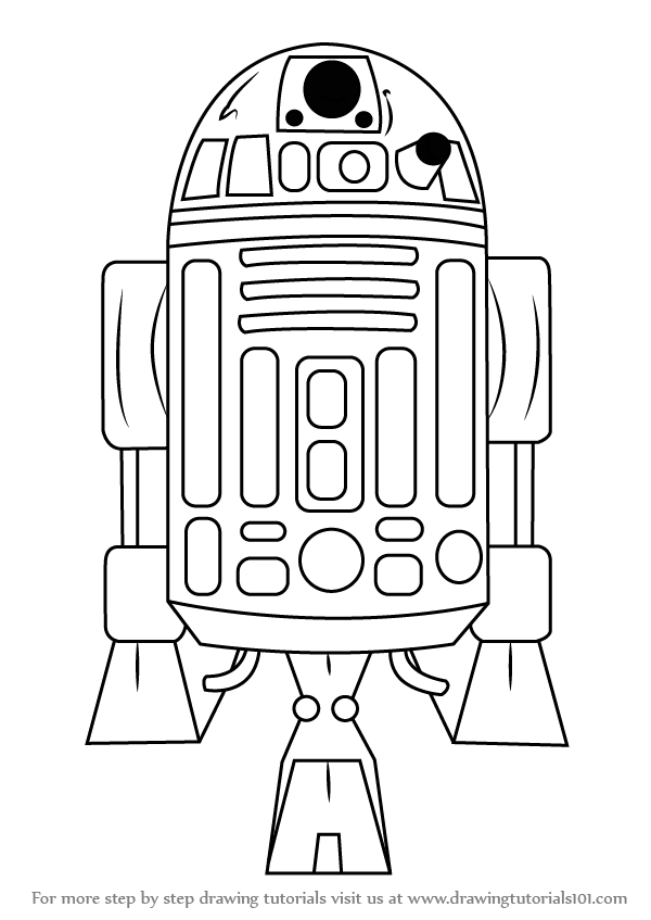 600x847 Learn How To Draw R2 D2 From Star Wars (Star Wars) Step By Step