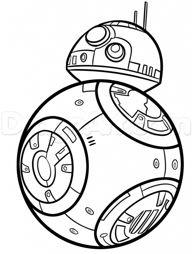 775x1024 Star Wars Characters Drawings How To Draw Bb 8, Stepstep, Star