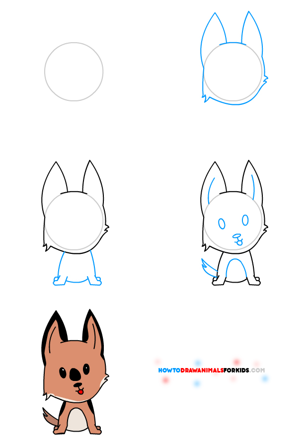 620x900 how to draw a dog for kids how to draw animals for kids