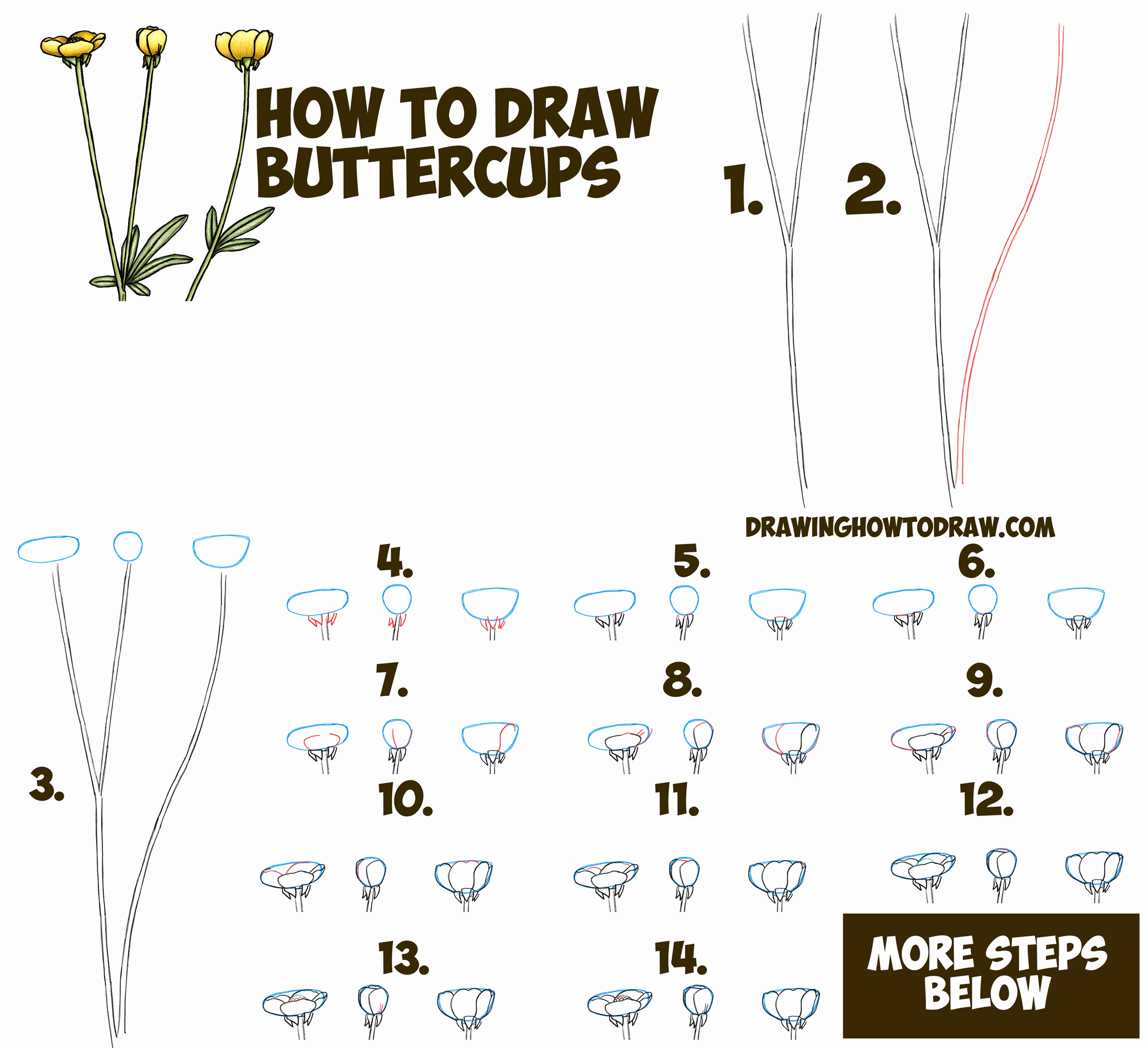 Easy Step By Step Drawing Of A Rose