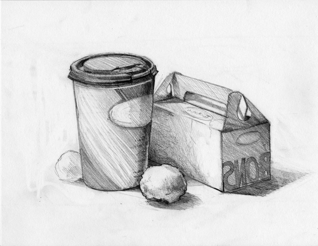1024x791 Easy Still Life Sketch On Pencil Simple Still Life Drawings Still