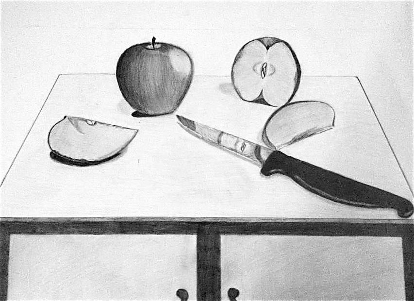 853x620 Still Life Of Apples. Still Life. Drawings. Pictures. Drawings