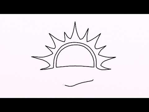 480x360 3658 How To Draw Sunset Easy Drawing For Kids Step By Step