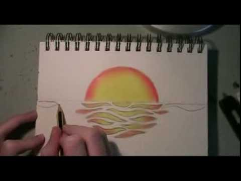480x360 Abstract Sunset Time Lapse Drawing