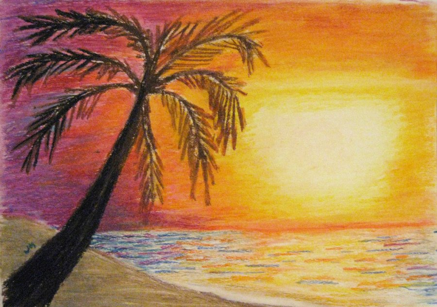 900x633 Beach Sunset By MidnightSun88 On DeviantArt