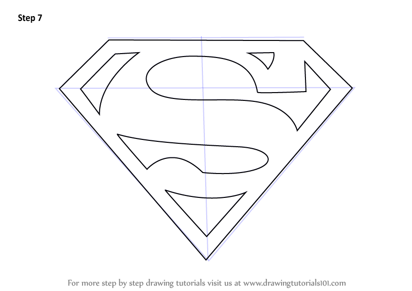843x597 Learn How To Draw Superman Symbol Step By
