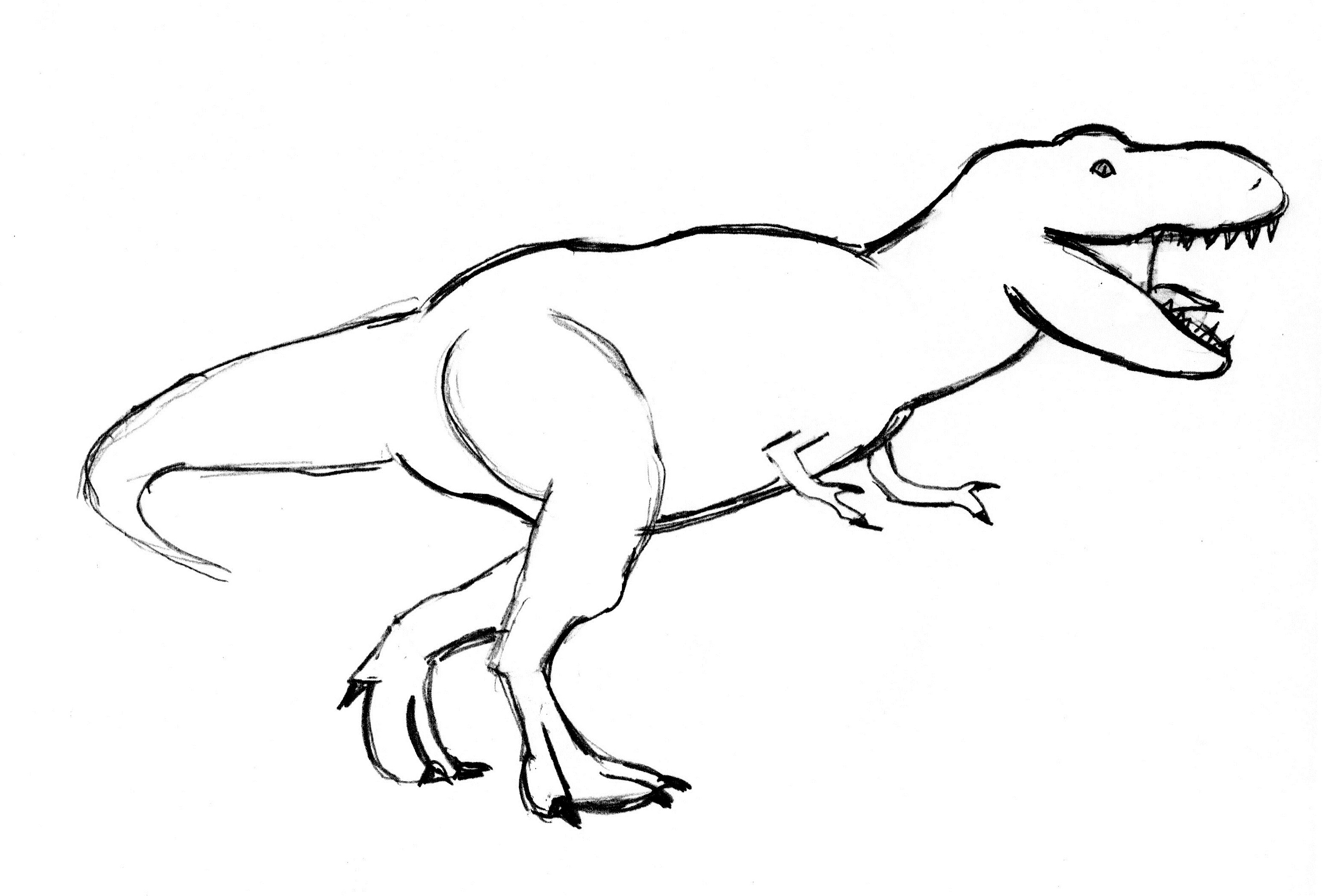 Easy T Rex Drawing at GetDrawings.com   Free for personal ...