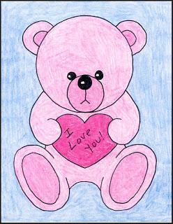 248x320 How To Draw A Valentine Teddy Bear Teddy Bear Drawing, Teddy
