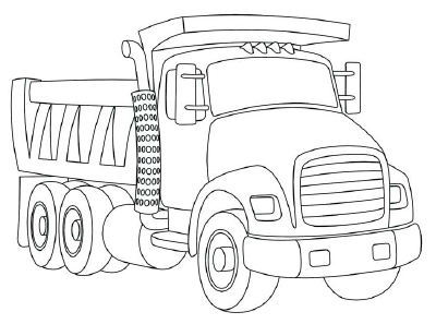 Easy Truck Drawing