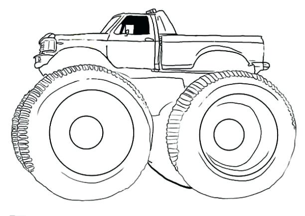 612x433 Easy Monster Truck Coloring Pages As Well As Preschool Monster