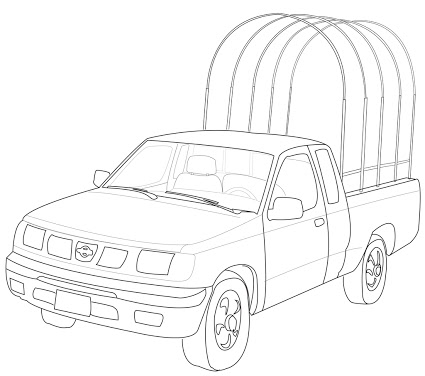 425x376 Easy Truck Drawings