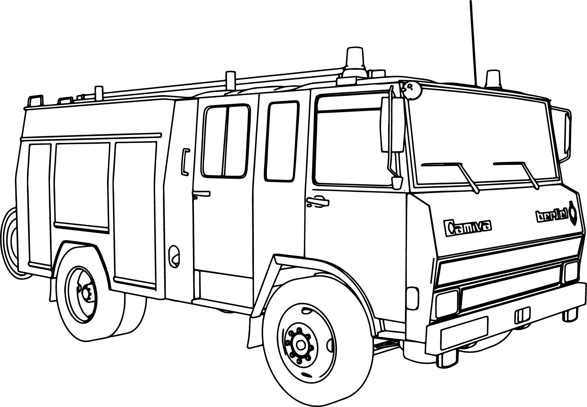 1880x1305 Emergency Transportations Fire Truck Coloring Pages