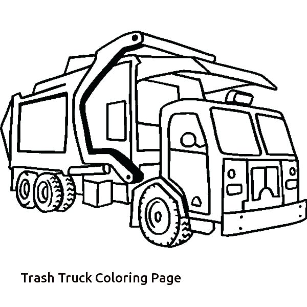 600x600 Free Printable Truck Coloring Pages Easy Monster Truck Big