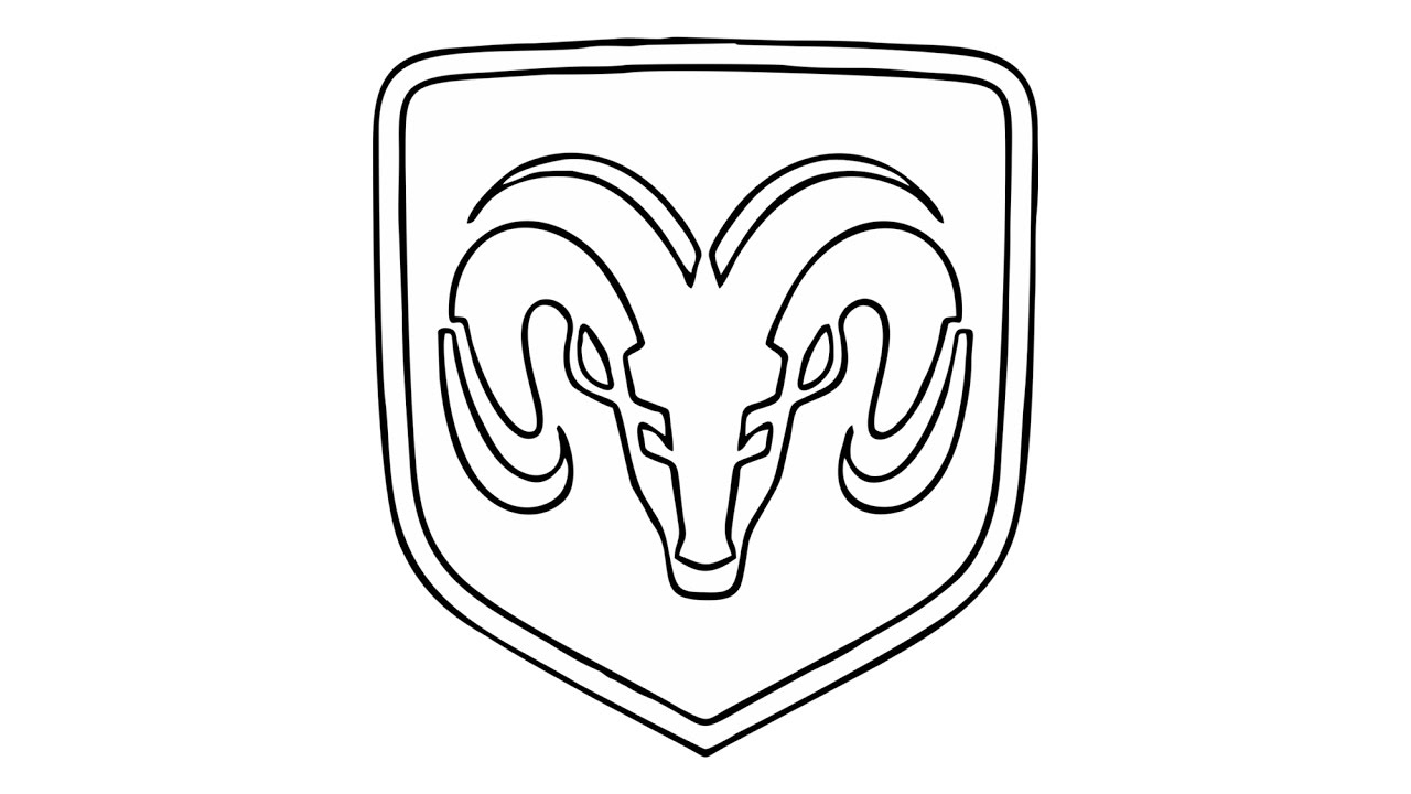 1280x720 How To Draw The Dodge Ram Logo (Symbol)